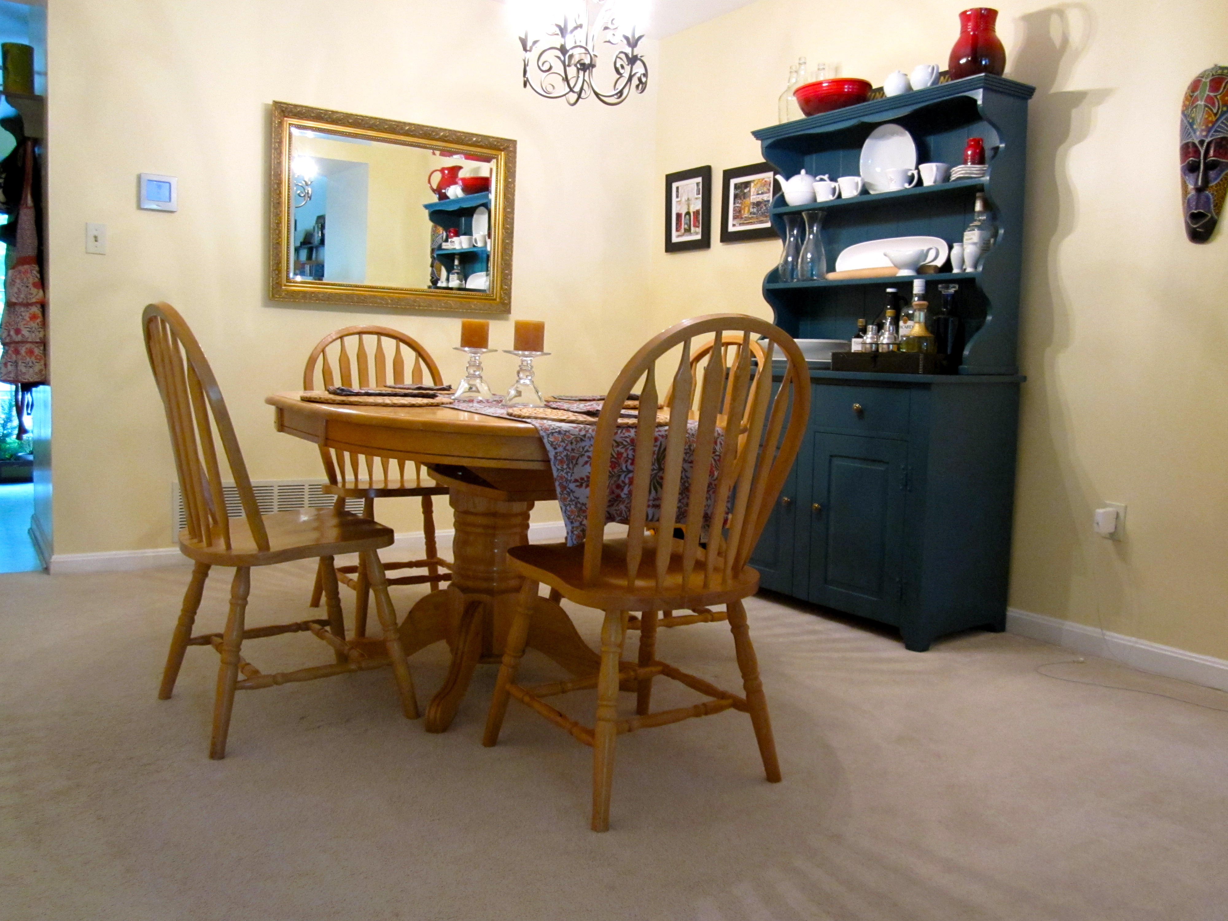 Here Is How The New Dining Room Set Looks In Our Space I Think This Fills Up A More Proportionate Way Like Darker Color Of